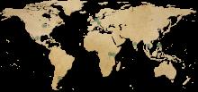 Bild: Weltkarte mit Punkten